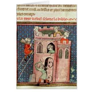 The Construction of the Tower of Babel Greeting Card