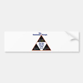 The Construction Triangle Bumper Sticker