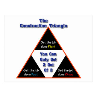 The Construction Triangle Post Cards