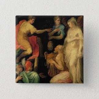 The Continence of Major Scipio (237-183 BC) (oil o Button
