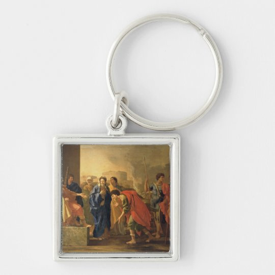 The Continence of Scipio, 1640 Keychain