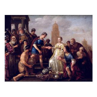 The Continence of Scipio  1643 Postcard