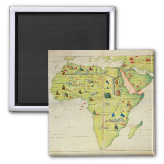 The Continent of Africa 2 Inch Square Magnet