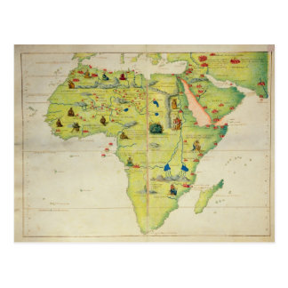 The Continent of Africa Postcard
