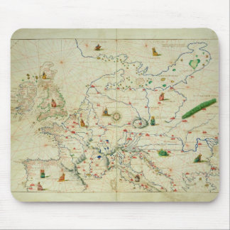 The Continent of Europe Mouse Pad