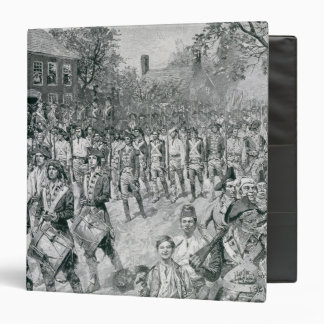 The Continental Army Marching Down the Old Vinyl Binder