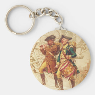 The Continentals by Frank Blackwell Mayer 1875 Basic Round Button Keychain
