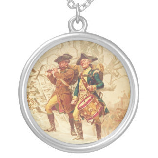 The Continentals by Frank Blackwell Mayer 1875 Round Pendant Necklace