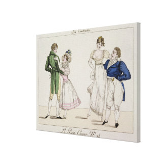 The Contrasts, plate 24 from 'Le Bon Genre', 1811 Gallery Wrapped Canvas