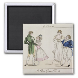 The Contrasts, plate 24 from 'Le Bon Genre', 1811 Magnet