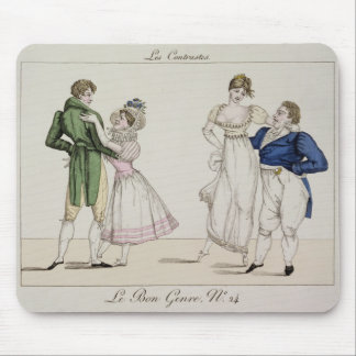 The Contrasts, plate 24 from 'Le Bon Genre', 1811 Mouse Pad