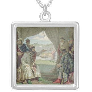 The Convention of Princes Square Pendant Necklace