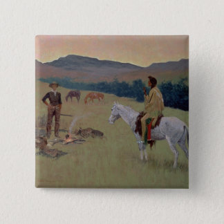 The Conversation, or Dubious Company (oil on canva Button