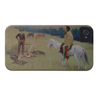 The Conversation, or Dubious Company (oil on canva iPhone 4 Cover