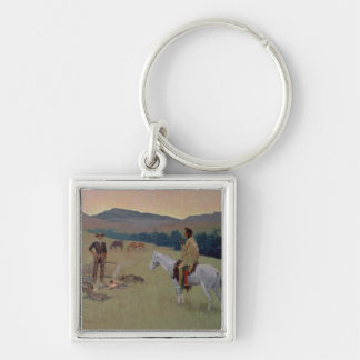 The Conversation, or Dubious Company (oil on canva Keychain