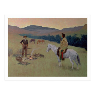 The Conversation, or Dubious Company (oil on canva Postcard
