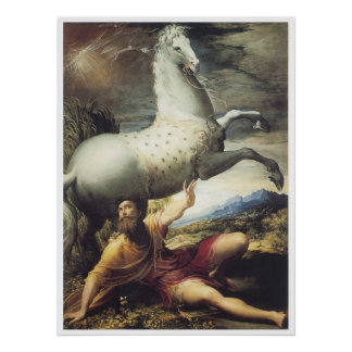 The Conversion of Paul, c.1530 Parmigianino Poster