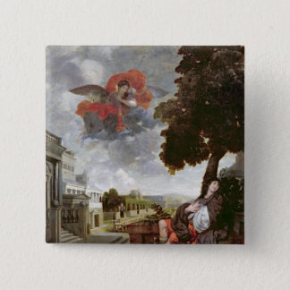 The Conversion of St. Augustine, c.1663 Pinback Button