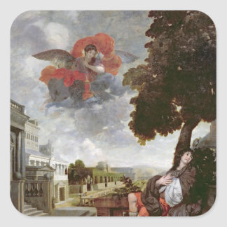 The Conversion of St. Augustine, c.1663 Square Sticker