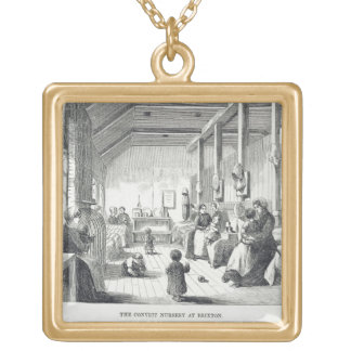 The Convict Nursery at Brixton, from 'The Criminal Square Pendant Necklace