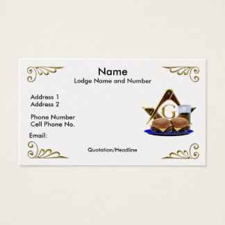 The Convivial Freemason Business/Profile card