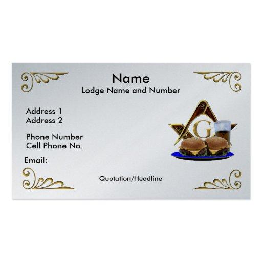 Mason business cards bizcardstudiocom for Freemason business cards