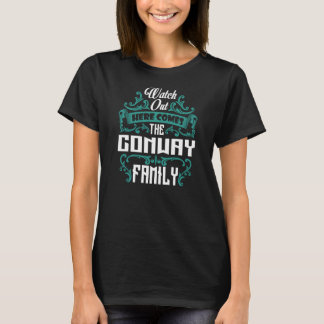 The CONWAY Family. Gift Birthday T-Shirt