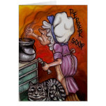 THE COOK Alice in Wonderland Note Card
