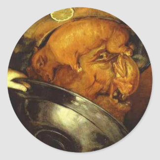 The Cook by Giuseppe Arcimboldo Classic Round Sticker