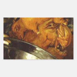 The Cook by Giuseppe Arcimboldo Rectangular Sticker