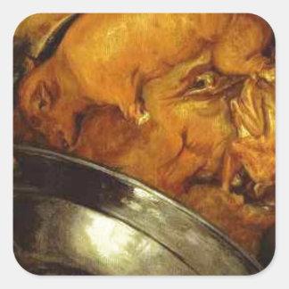 The Cook by Giuseppe Arcimboldo Square Sticker