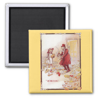 The Cook is Scrambled Vintage Oz 2 Inch Square Magnet