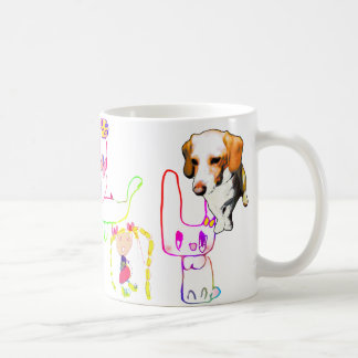 The cookie dog and the companions (picture which coffee mug