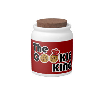 The Cookie King Candy Jar