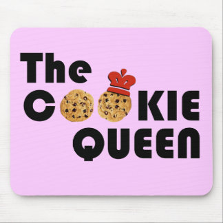 The Cookie Queen on Pink Background Mouse Pad