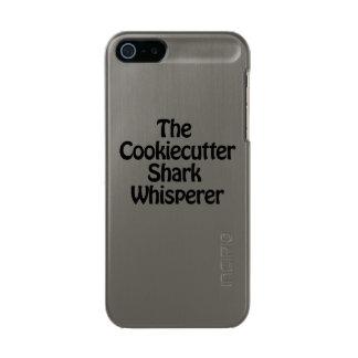 the cookiecutter shark whisperer metallic phone case for iPhone SE/5/5s