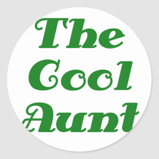 The Cool Aunt Classic Round Sticker