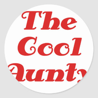 The Cool Aunty Classic Round Sticker