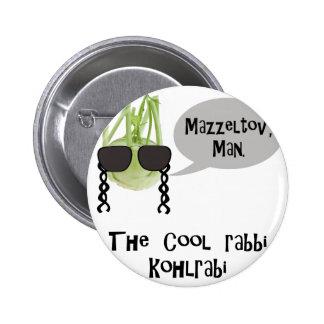 The cool rabbi kohlrabi - bad vegetable pun pinback button