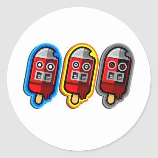 The Cool Sweet Stuff - cool robot ice cream design Classic Round Sticker