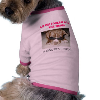 THE COOLEST DOG IN THE WORLD DOGGIE T SHIRT