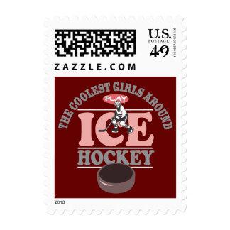 The Coolest Girls Around Play Ice Hockey Postage