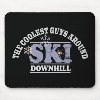 The Coolest Guys Around Ski Downhill Mouse Pad