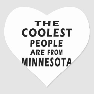 The Coolest People Are From Minnesota Heart Sticker