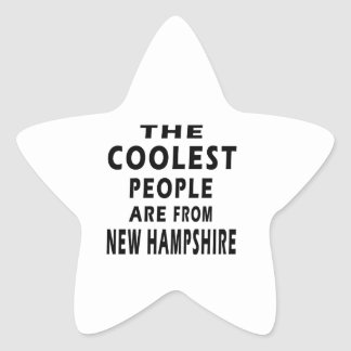 The Coolest People Are From New Hampshire Star Sticker