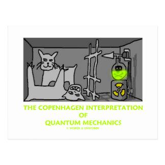 The Copenhagen Interpretation Of Quantum Mechanics Post Card