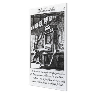 The Copper-plate Engraver, from 'Iets voor Canvas Print