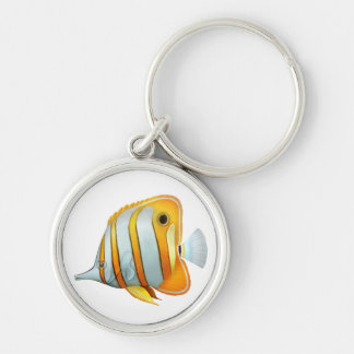 The Copperband Butterfly Fish Keychain