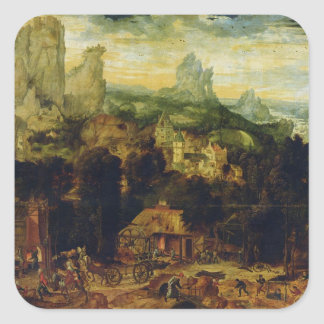 The Coppermine (oil on panel) Square Sticker