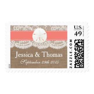 The Coral Sand Dollar Beach Wedding Collection Postage
